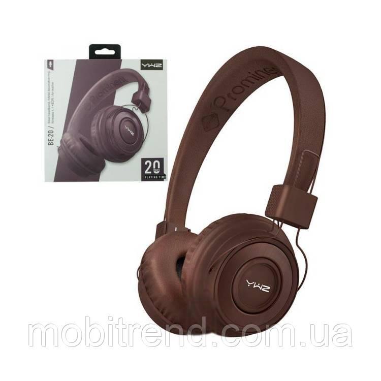 Bluetooth наушники с микрофоном Sonic Sound BE-20 Коричневый