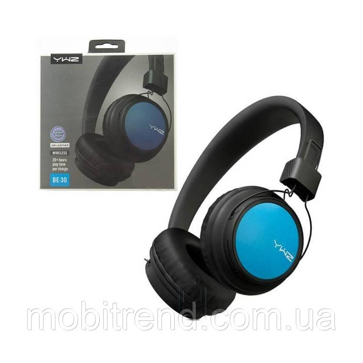 Bluetooth наушники с микрофоном Sonic Sound BE-30 черно-Синий