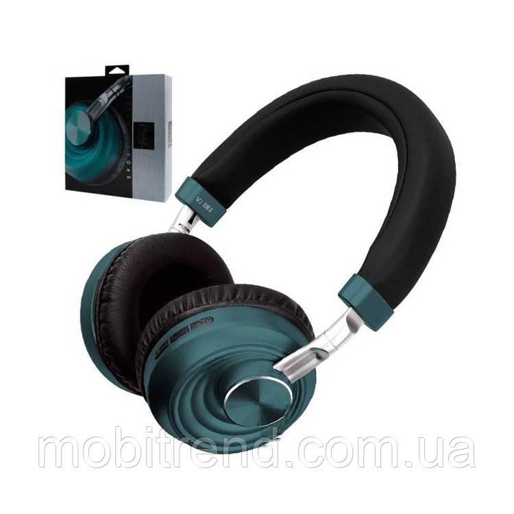 Bluetooth наушники с микрофоном VJ083 Зеленый