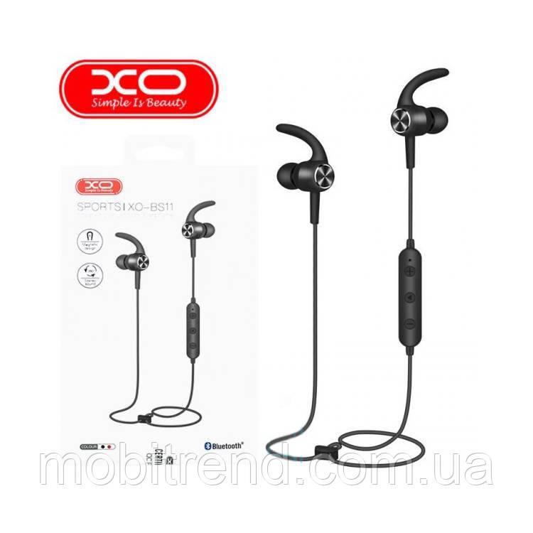 Bluetooth наушники с микрофоном XO BS11 Черный