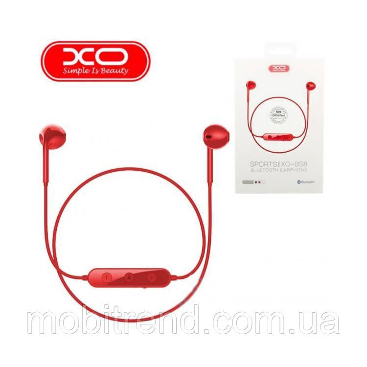 Bluetooth наушники с микрофоном XO BS8 Красный