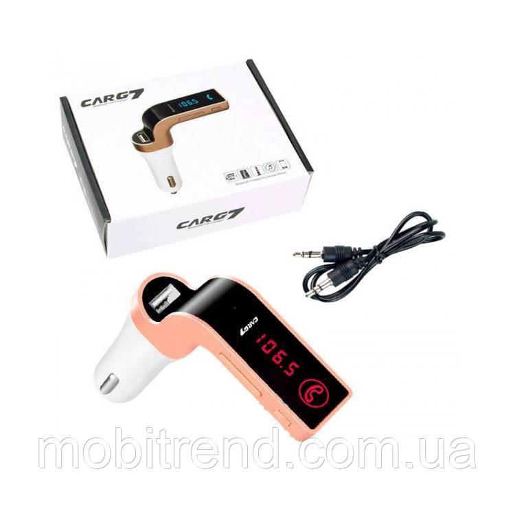 FM модулятор трансмиттер Car G7 Оригинал розово-Золотой