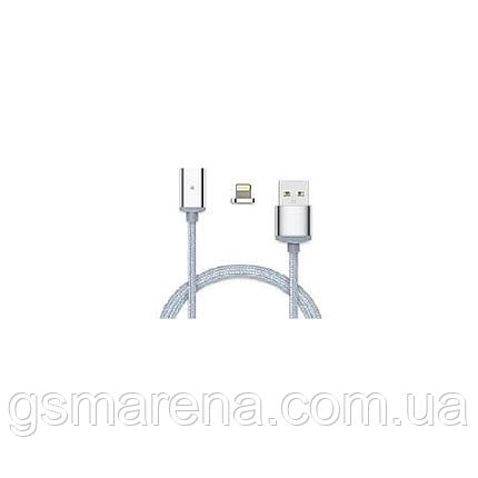 Кабель USB Apple магнитный металл Clip-On, 2.0 AF iPhone 5, 1m Серый, фото 2