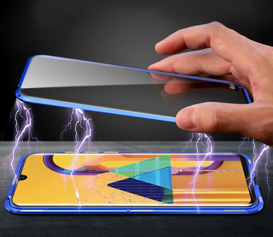 Магнитный металл чехол FULL GLASS 360° для Samsung Galaxy M31
