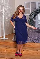 Ночная рубашка женская Вискоза декорирована кружевом Размер 52 54 56 58 60 62 64 66 В наличии 3 цвета