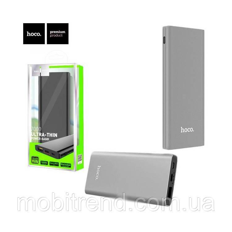 Внешние аккумулятор Power Bank Hoco J17 Clear power 7000mAh Оригинал Серый