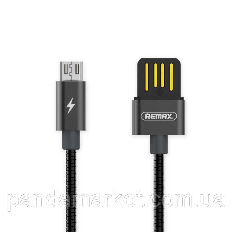 Кабель micro-USB Remax Silver Serpent RC-080m, 1m tarnish