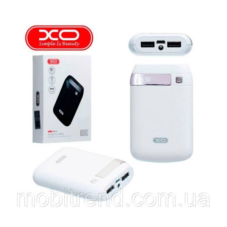 Внешние аккумулятор Power Bank XO PB56 8000mAh Белый