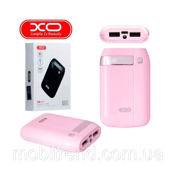Внешние аккумулятор Power Bank XO PB56 8000mAh Розовый