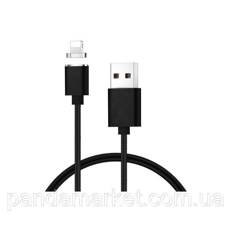 Кабель USB Apple магнитный металл Clip-On, 2.0 AF iPhone 5, 1m Черный