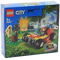 Конструктор LEGO City (Лего) Fire Лесные пожарные 84 детали (60247)
