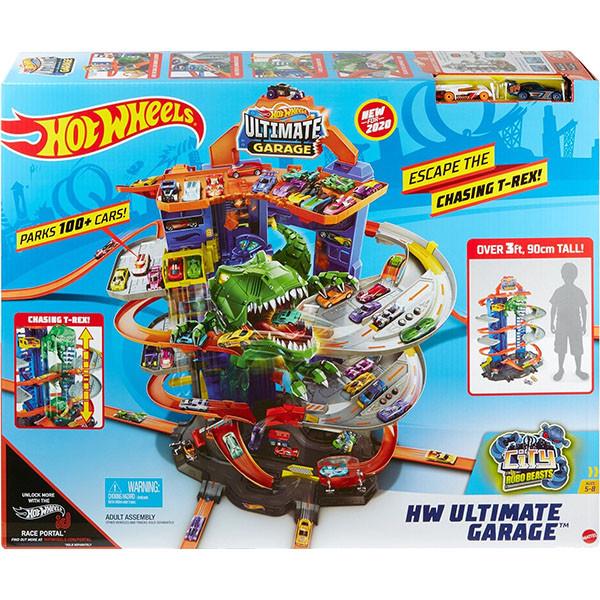 Гараж Хот Вилс с динозавром Т-Рексом, Ultimate Garage T-Rex, Hot Wheels (GJL14)
