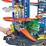 Гараж Хот Вилс с динозавром Т-Рексом, Ultimate Garage T-Rex, Hot Wheels (GJL14), фото 3