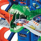 Гараж Хот Вилс с динозавром Т-Рексом, Ultimate Garage T-Rex, Hot Wheels (GJL14), фото 5