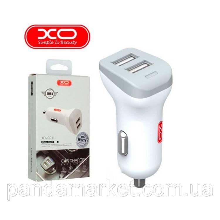 Автомобильное зарядное устройство XO CC11 2USB 2.4A Белый