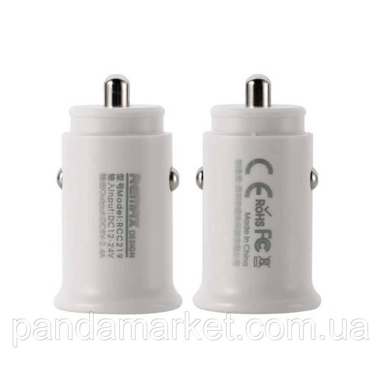 Автомобильное зарядное устройство Remax RCC-219 Roki 2.4A 2USB Белый