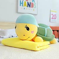 """Детская мягкая игрушка с пледом """"Черепашка"""", фото 1"""