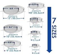 Пищевые крышки пленки силиконовые многоразовые Super stretch silicone lids (6шт)