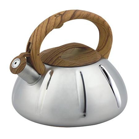 Чайник со свистком из нержавеющей стали Benson BN-704 (3 л) нейлоновая ручка