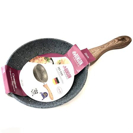 Сковородка Benson с серо-бело-черным гранитным покрытием 24 см