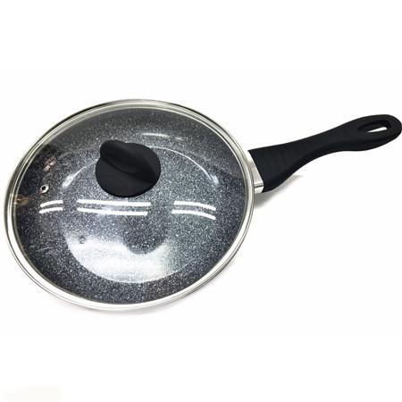 Сковородка Benson с крышкой и антипригарным гранитным покрытием 24 см