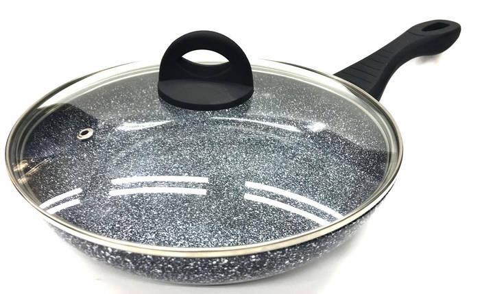 Сковородка Benson с крышкой и антипригарным гранитным покрытием 28 см, фото 2