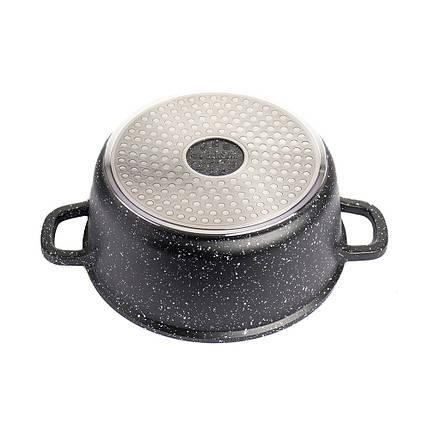 Кастрюля с мраморным антипригарным покрытием Benson 24 см, фото 2