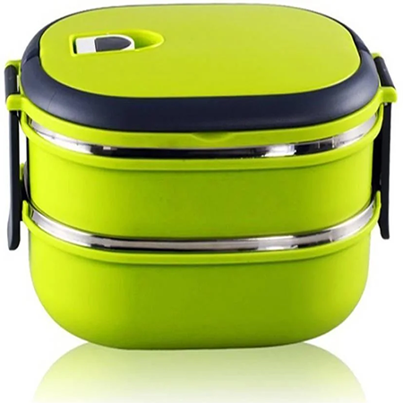Ланч Бокс Benson с контейнером для еды 1,8 л зеленый