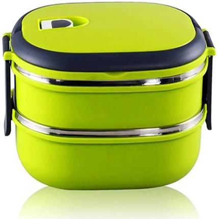 Ланч Бокс Benson с контейнером для еды 1,8 л зеленый, фото 2