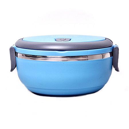 Ланч Бокс Benson с контейнером для еды круглый синий