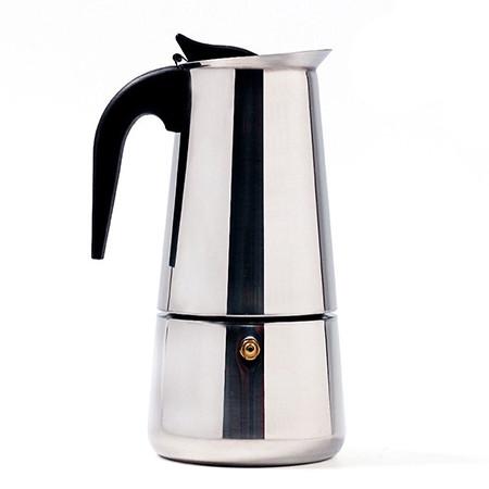 Гейзерная кофеварка Benson нержавеющая сталь на 9 чашек