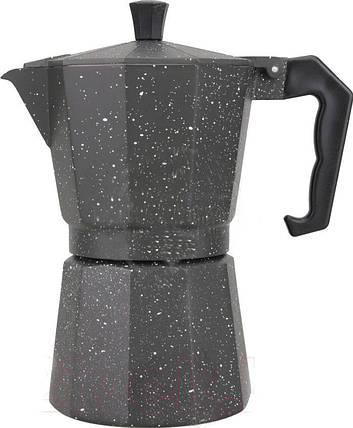 Гейзерная кофеварка Benson на 6 чашек литой алюминий, фото 2