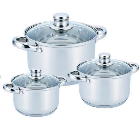 Набор посуды из нержавеющей стали 10 предметов Benson