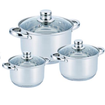Набор посуды из нержавеющей стали 10 предметов Benson, фото 2