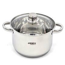 Набор посуды из нержавеющей стали 10 предметов Benson, фото 3