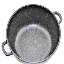 Кастрюля (казан) с мраморным покрытием 5,3 литра Benson, фото 3
