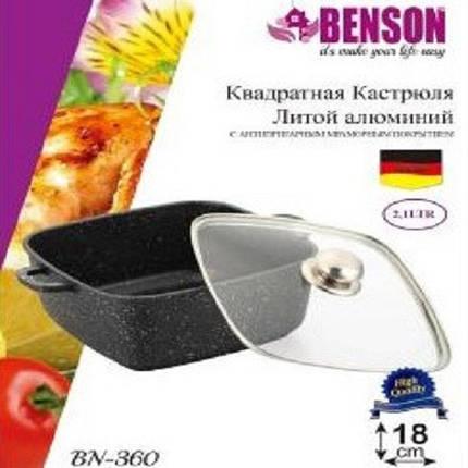 Кастрюля алюминиевая с крышкой 2.1 литра Benson, фото 2