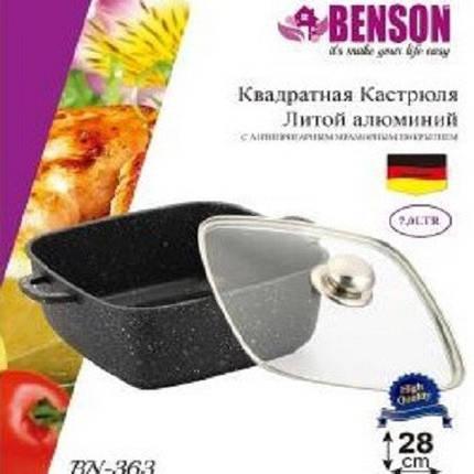 Кастрюля алюминиевая с крышкой 7 литров Benson, фото 2