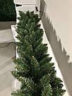 Декор хвойна гірлянда Elegant зелена Ø 28 см, фото 4