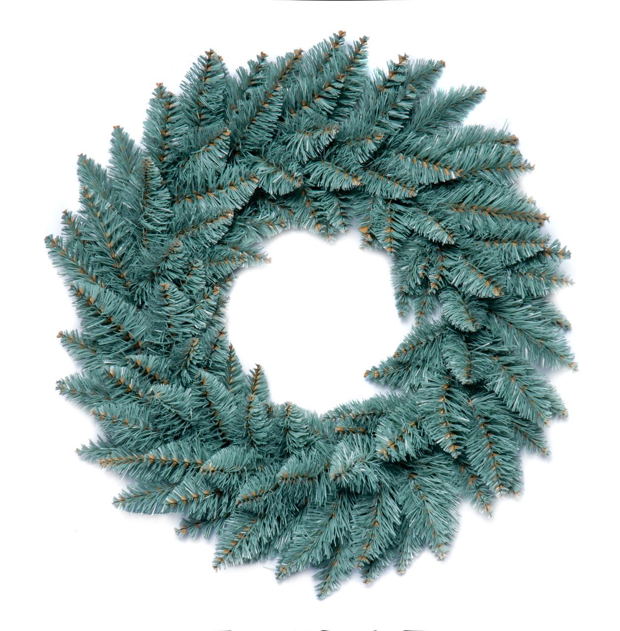 Вінок новорічний різдвяний Elegant з штучної хвої Ø 60 см, блакитний
