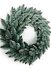 Вінок новорічний різдвяний Elegant з штучної хвої Ø 60 см, блакитний, фото 2