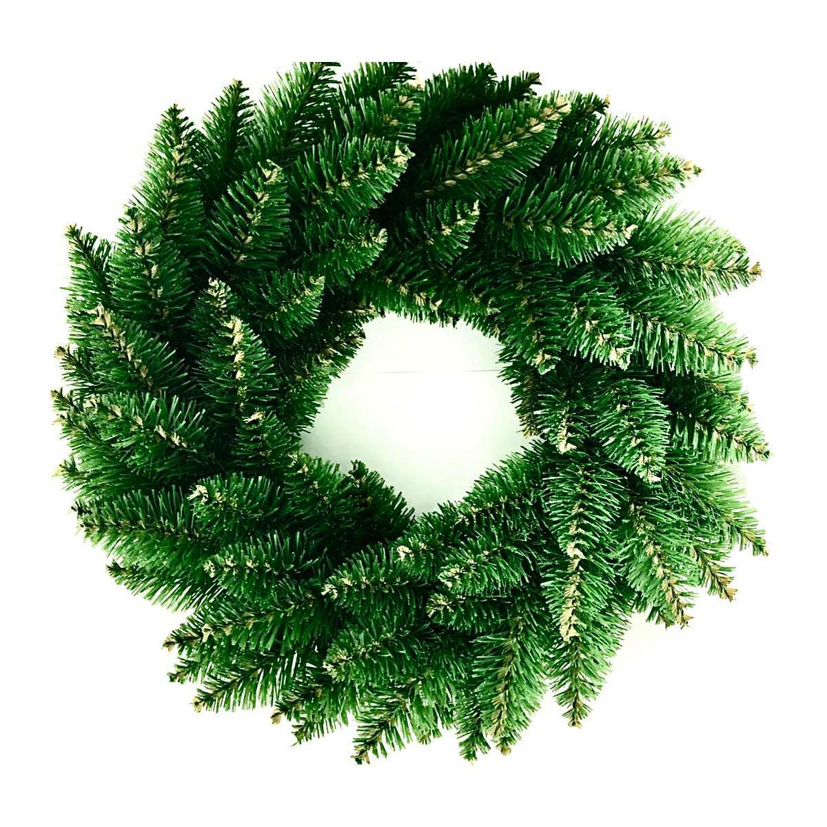 Венок новогодний рождественский Elegant из искусственной хвои (зелёный, Ø 60 см)