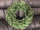 Венок новогодний рождественский Elegant из искусственной хвои (зелёный, Ø 60 см), фото 4