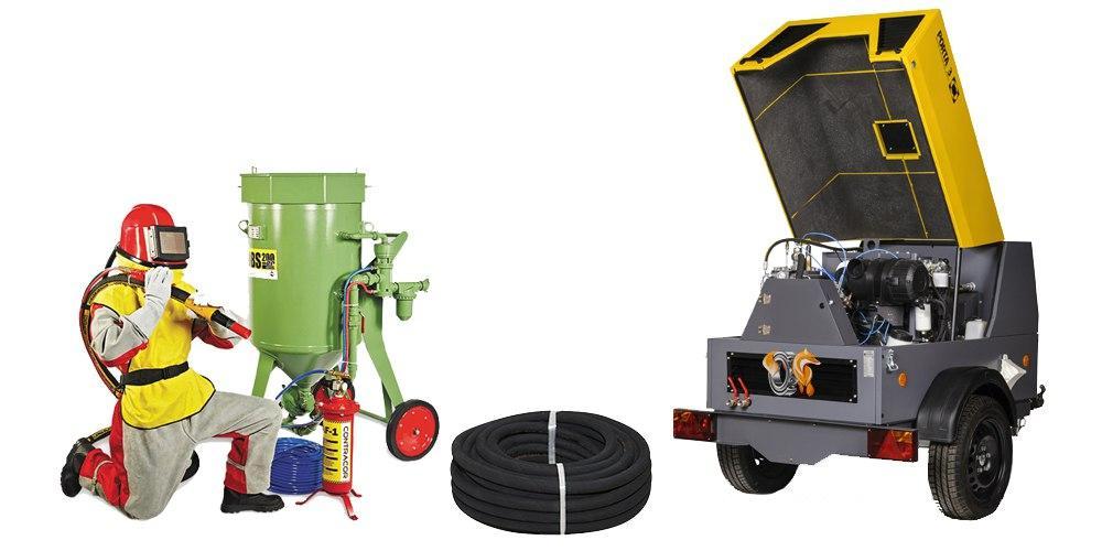 Комплект оборудования для пескоструйной очистки