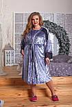 Женский комплект для сна Ночная рубашка и халат Размер 52 54 56 58 60 62 64 66 Разные цвета, фото 2