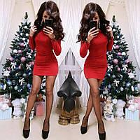 Мини платье с люрексом красное, фото 1