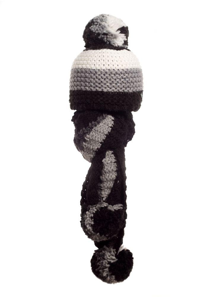 Стильная модная шапочка и шарфик с бумбонами Polina, Польша.