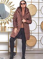 Женская зимняя куртка удлиненная батал 50 52 54 56 58 60