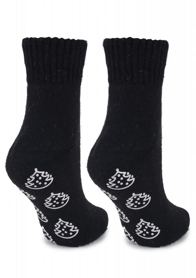 Женские новогодние носки ANGORA N42 с ёлками