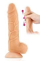 Фалоімітатор з рухомою крайньою плоттю Real Body - Real Brad, діаметр 4,5 см, TPE